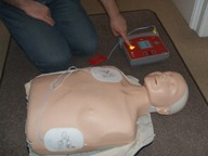 Sports First Aid Courses and Defibrillation Skills. defib3